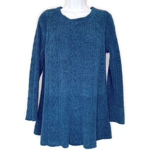 J Jill terry chenille cable knit sweater tunic